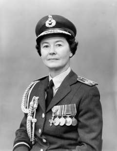 Air Commandant Felicity Hill, Director Women's Royal Air Force (DWRAF), 1966.